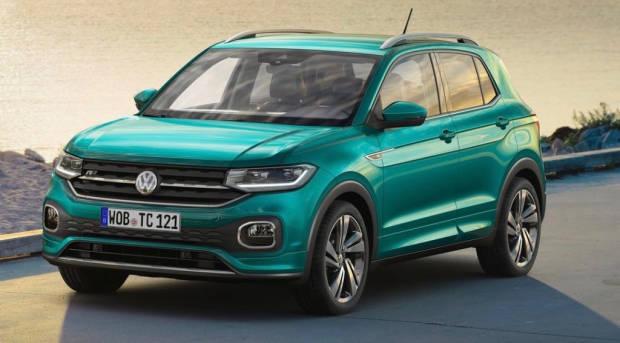 2019 Volkswagen T-Cross R-Line driving