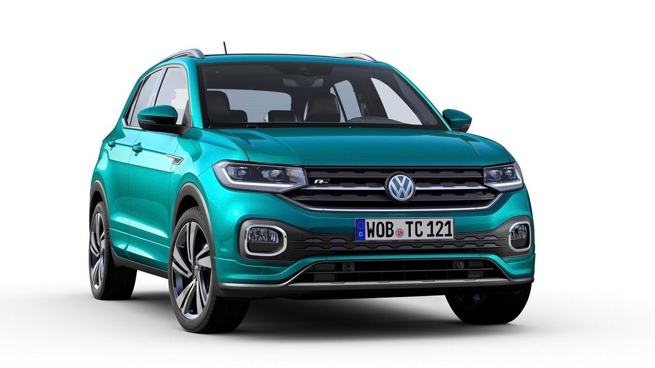 2019 Volkswagen T-Cross R-Line front 3/4