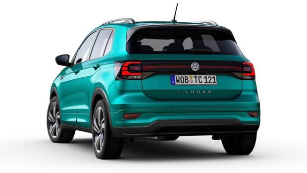 2019 Volkswagen T-Cross R-Line rear 3/4