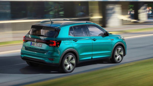 2019 Volkswagen T-Cross R-Line rear driving