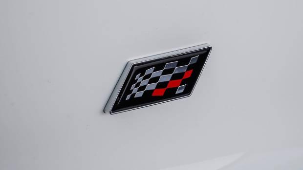 2020 Jaguar F-Type Chequered Flag badge