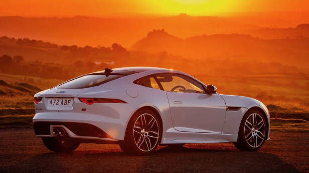 2020 Jaguar F-Type Chequered Flag white rear 3/4