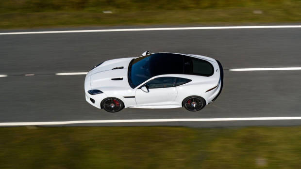 2020 Jaguar F-Type Chequered Flag white top