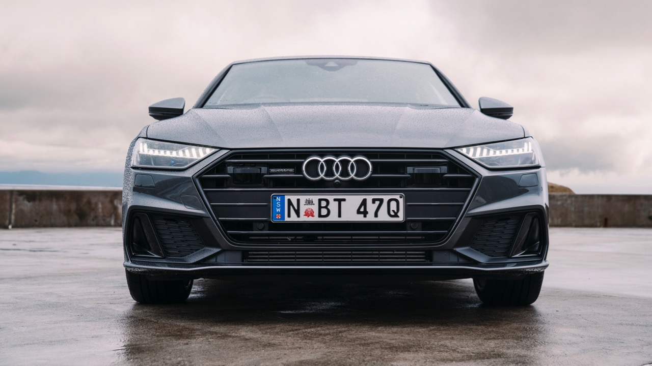 2019 Audi A7 grey front end