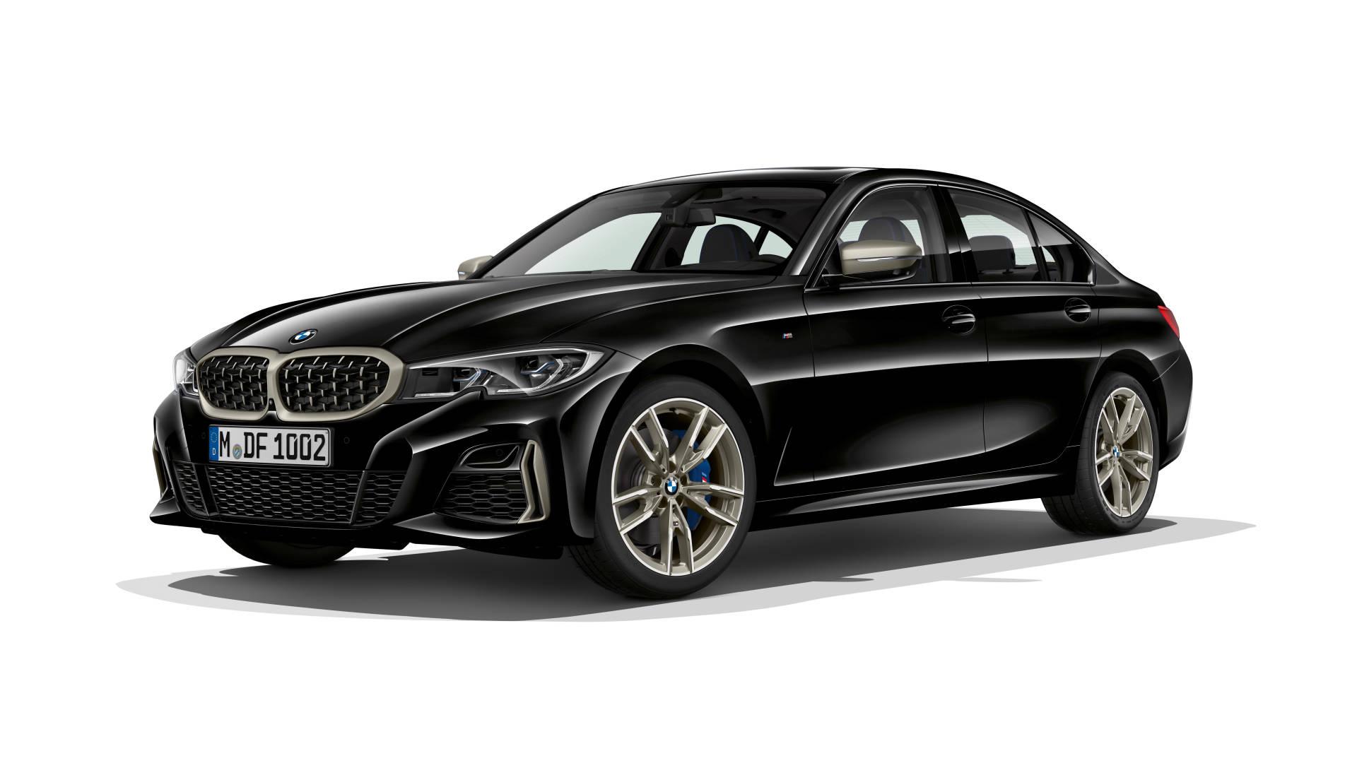 2019 BMW M340i black front 3/4