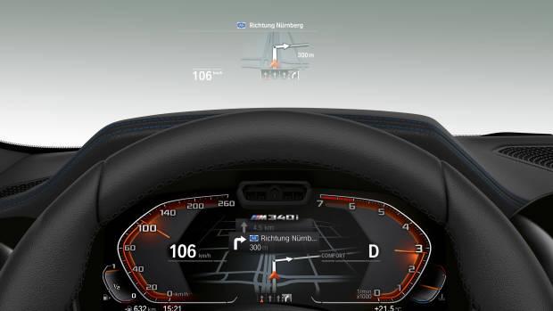 2019 BMW M340i dials