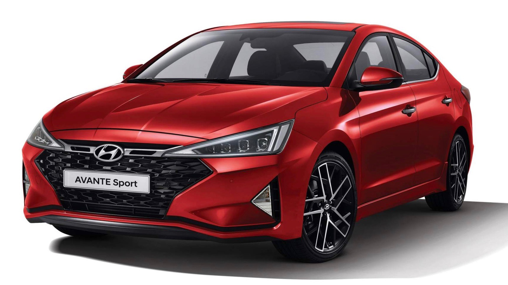 2019 Hyundai Elantra SR front red 3/4
