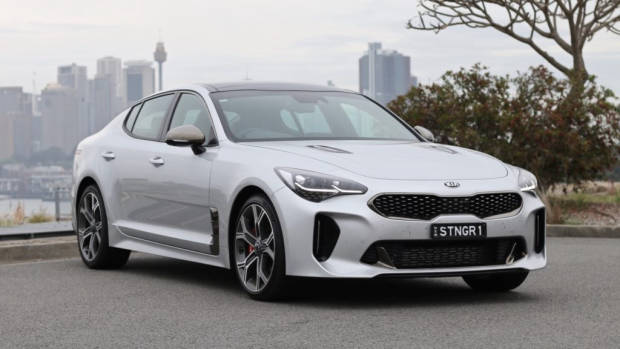 2019 Kia Stinger GT Silky Silver front end