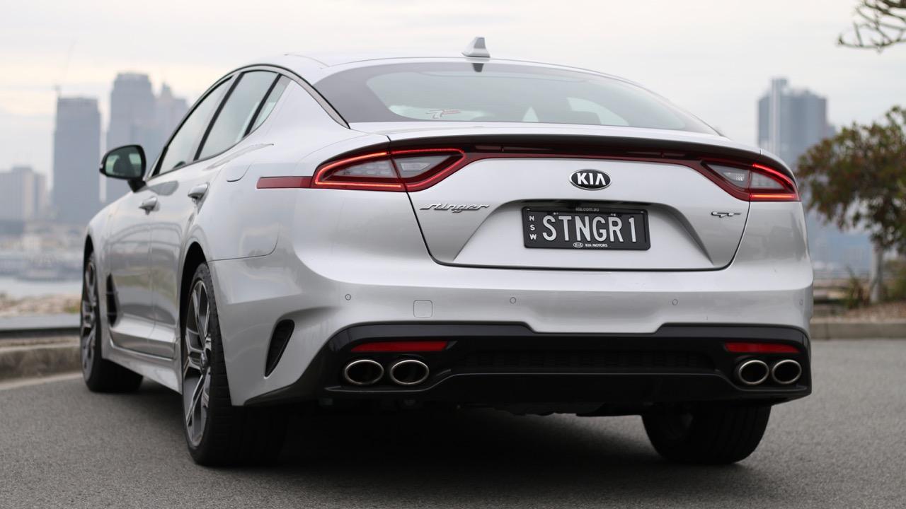 2019 Kia Stinger GT Silky Silver rear end