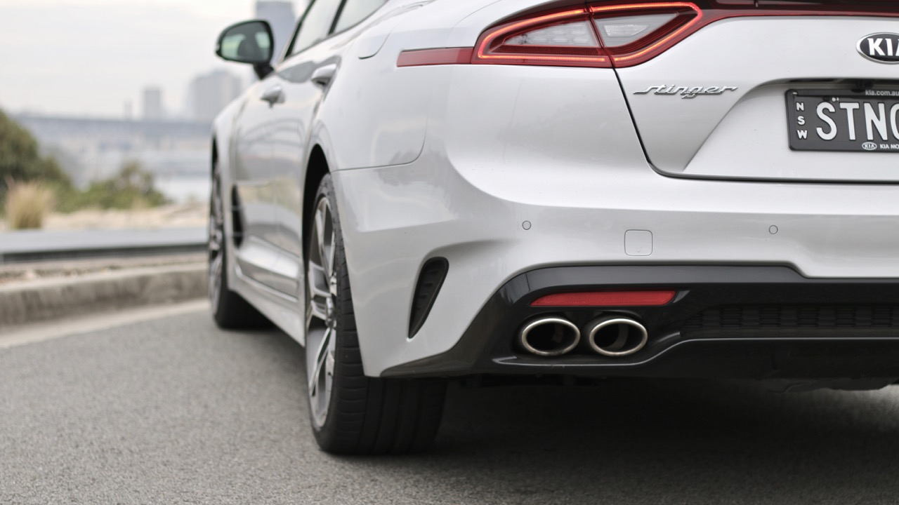 2019 Kia Stinger GT sports exhaust
