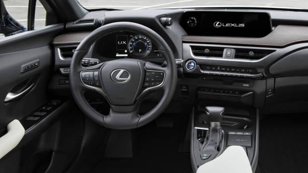 2019 Lexus UX grey leather interior