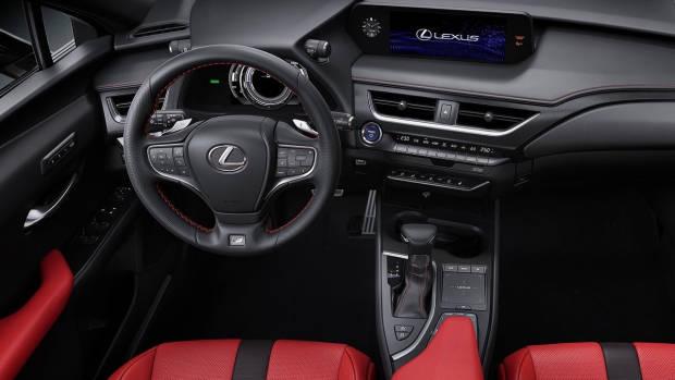 2019 Lexus UX red leather interior