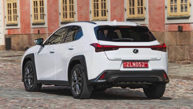 2019 Lexus UX white rear end