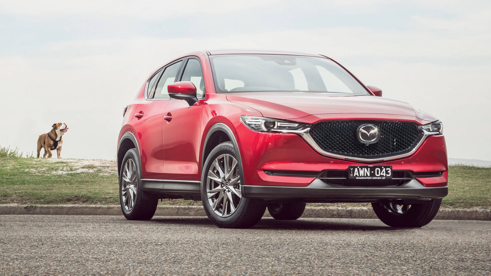 2019 Mazda CX-5 Akera Soul Red Crystal front 3/4 close