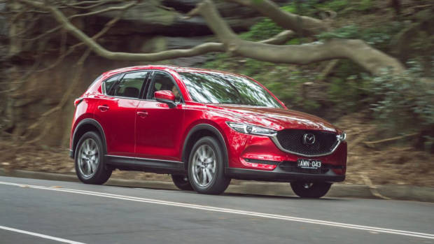 2019 Mazda CX-5 Akera Soul Red Crystal front driving