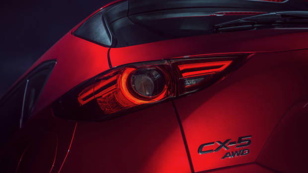 2019 Mazda CX-5 Akera Soul Red Crystal rear detail