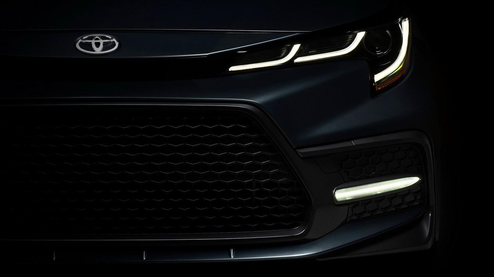 2019 Toyota Corolla sedan teaser