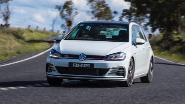 2019 Volkswagen Golf GTI Driving White