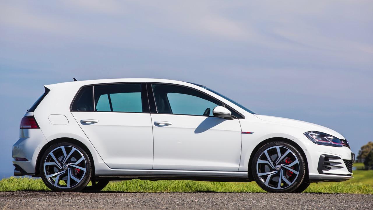 2019 Volkswagen Golf GTI Profile White