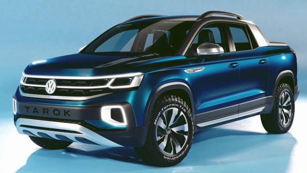 2019 Volkswagen Tarok concept front 3/4