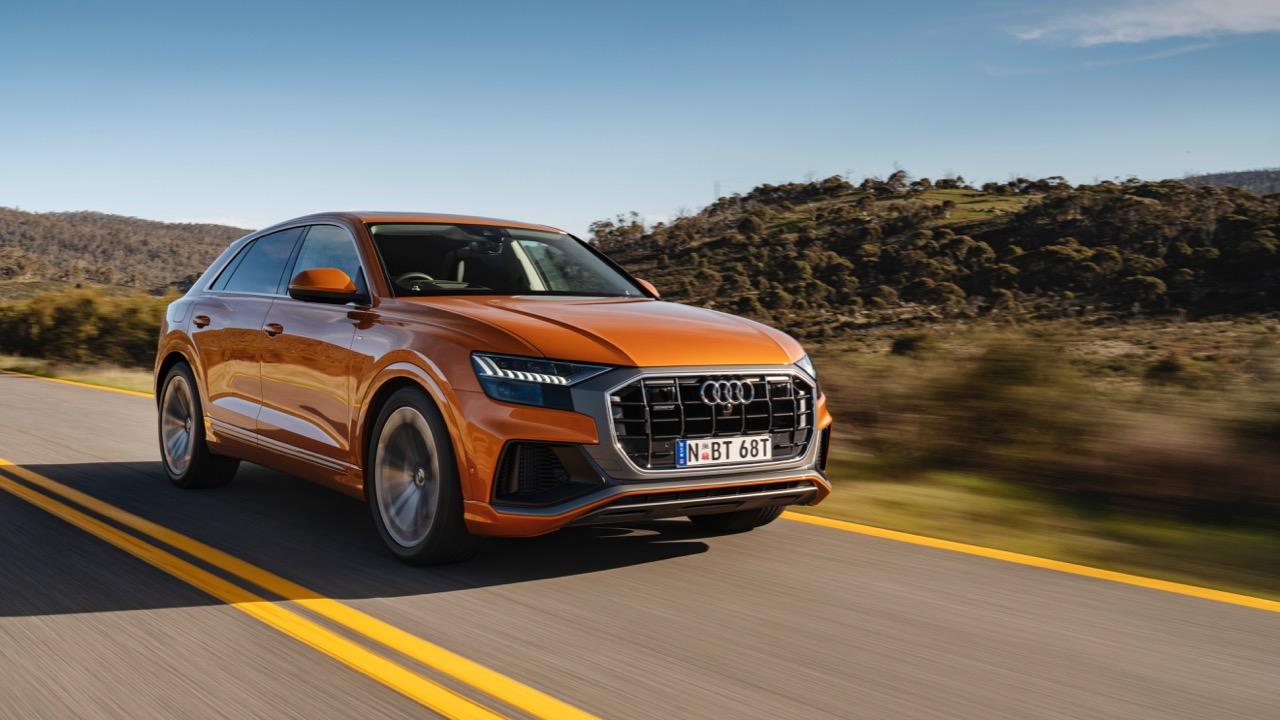 2019 Audi Q8 Dragon Orange front driving