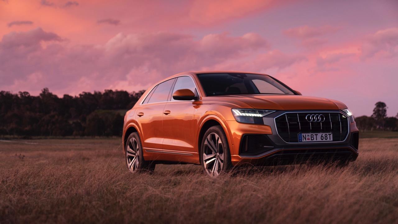 2019 Audi Q8 Dragon Orange front end