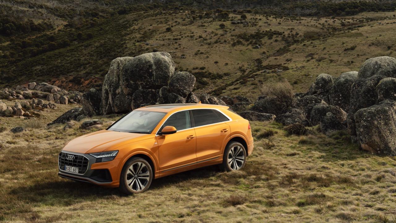 2019 Audi Q8 Dragon Orange side profile