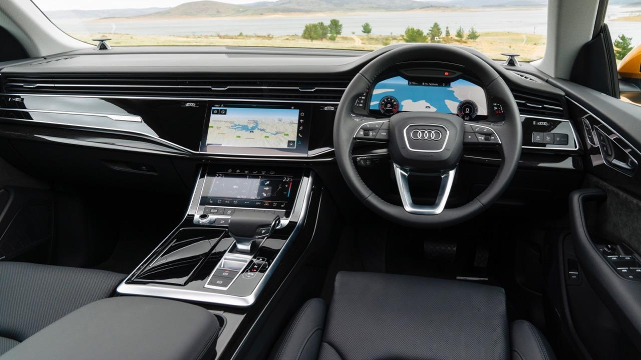 2019 Audi Q8 interior dashboard black leather