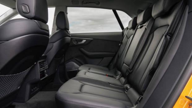 2019 Audi Q8 interior rear seats black leather