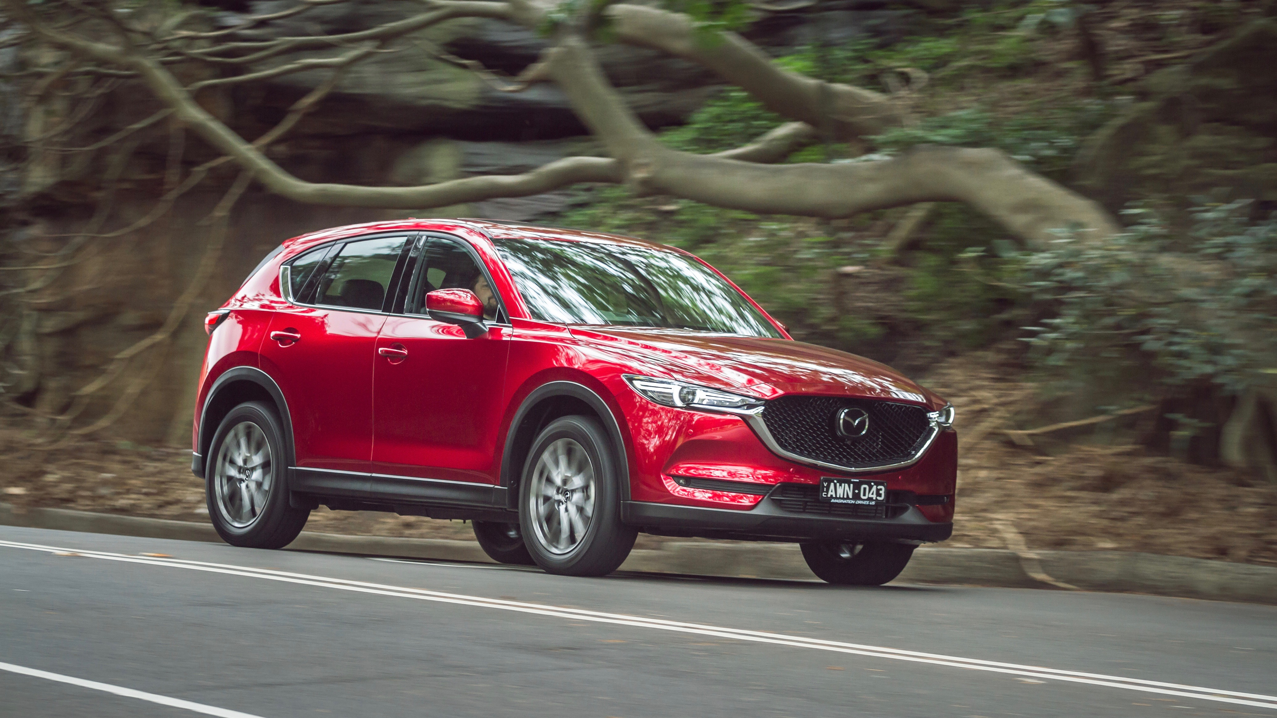 2019 Mazda CX-5 Akera Soul Red Crystal driving