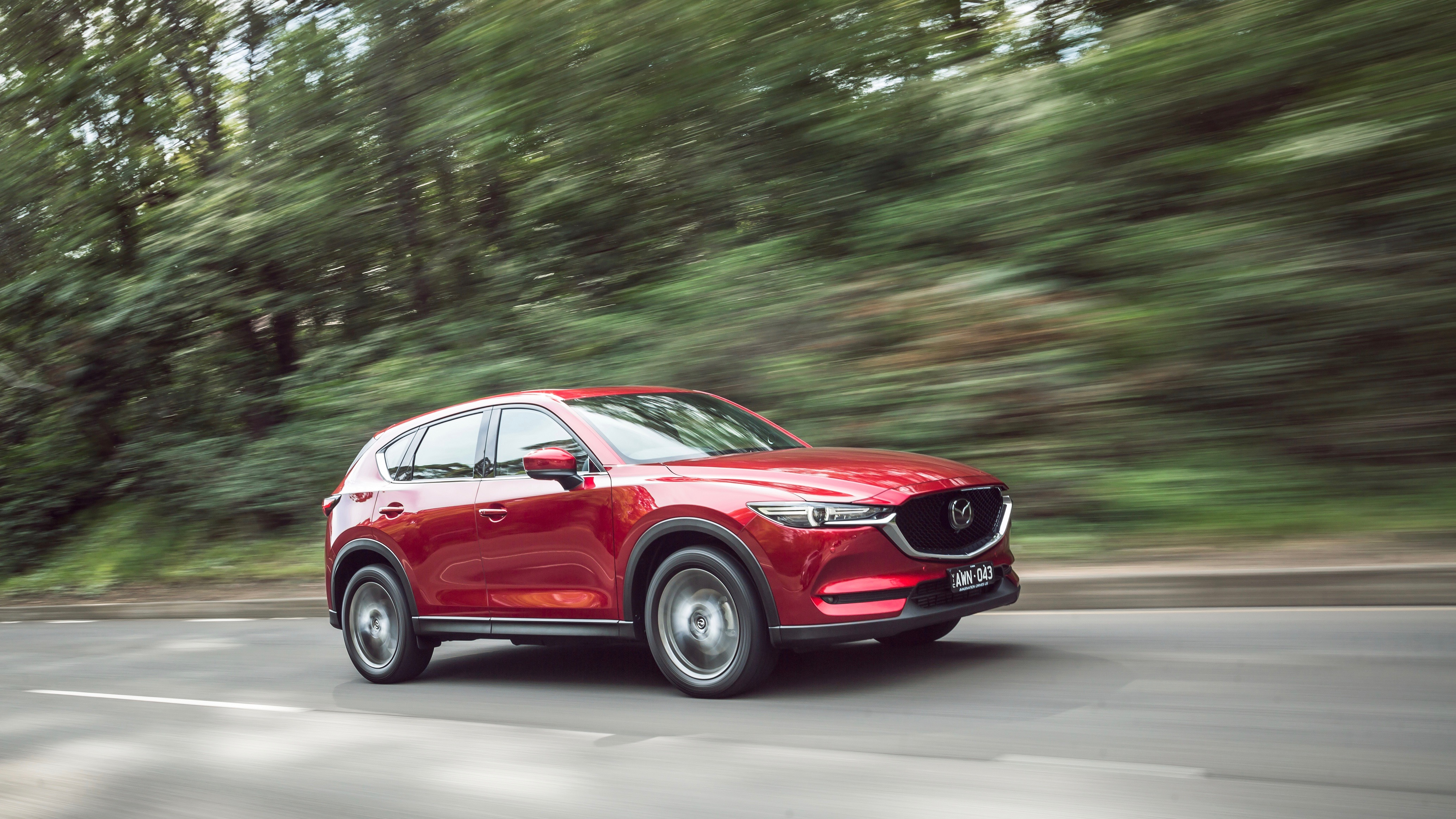 2019 Mazda CX-5 Akera Soul Red Crystal front 3/4 driving