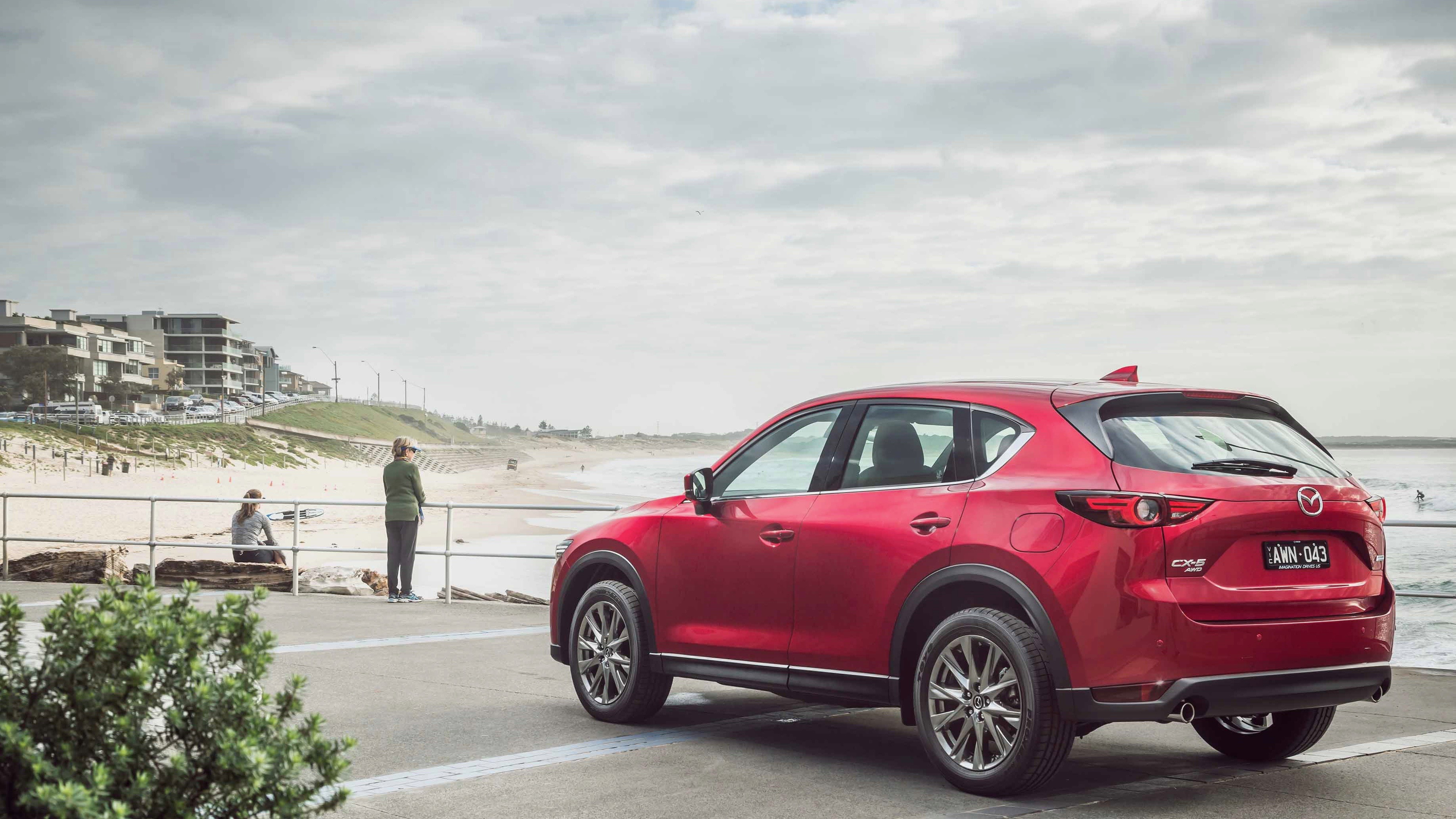 2019 Mazda CX-5 Akera Soul Red Crystal rear 3/4 close
