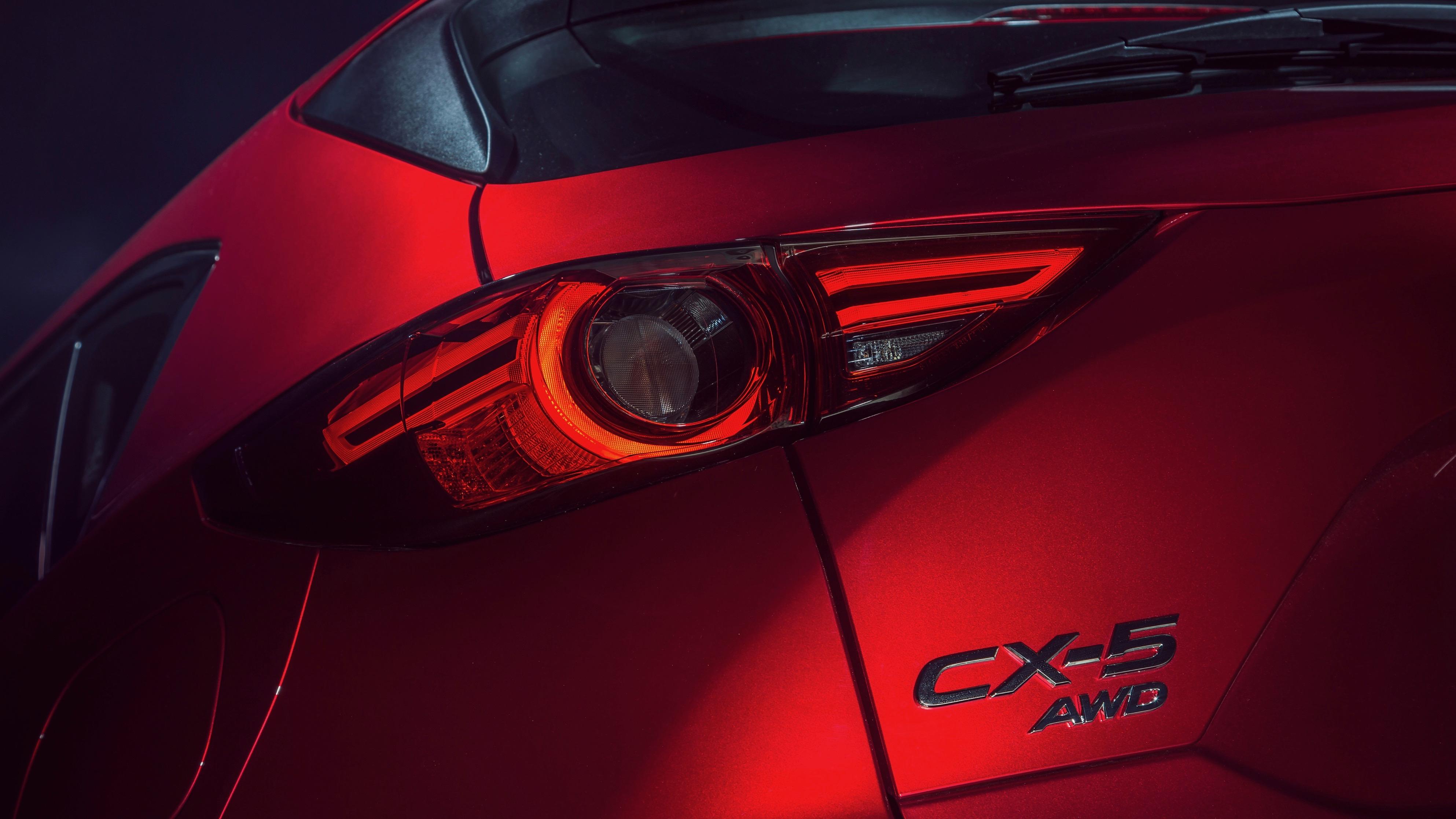 2019 Mazda CX-5 Akera Soul Red Crystal rear badge