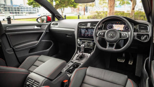2019 Volkswagen Golf GTI Black Leather Interior