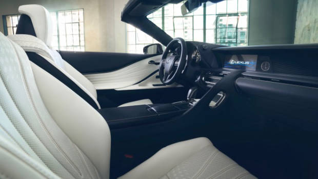 2019 Lexus LC convertible concept interior