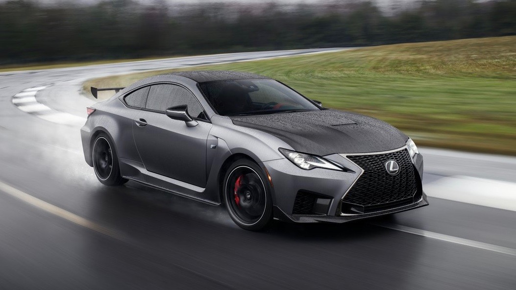 2019 Lexus RC F Track Edition grey front 3/4