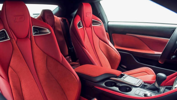 2019 Lexus RC F Track Edition seats