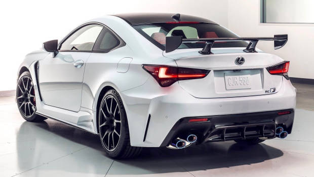2019 Lexus RC F Track Edition white rear