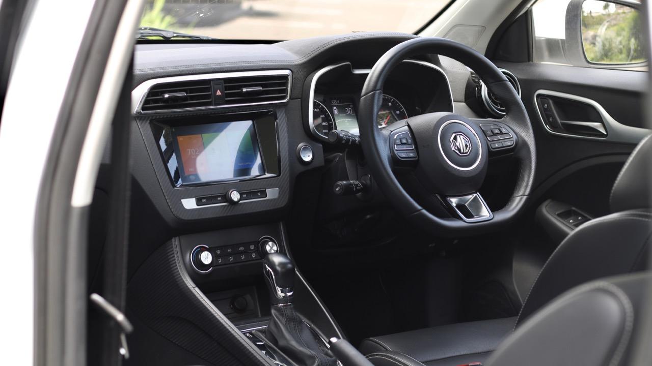 2019 MG ZS Essence Black Leather Interior