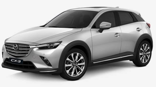 2019 Mazda CX-3 Akari LE white front 3/4