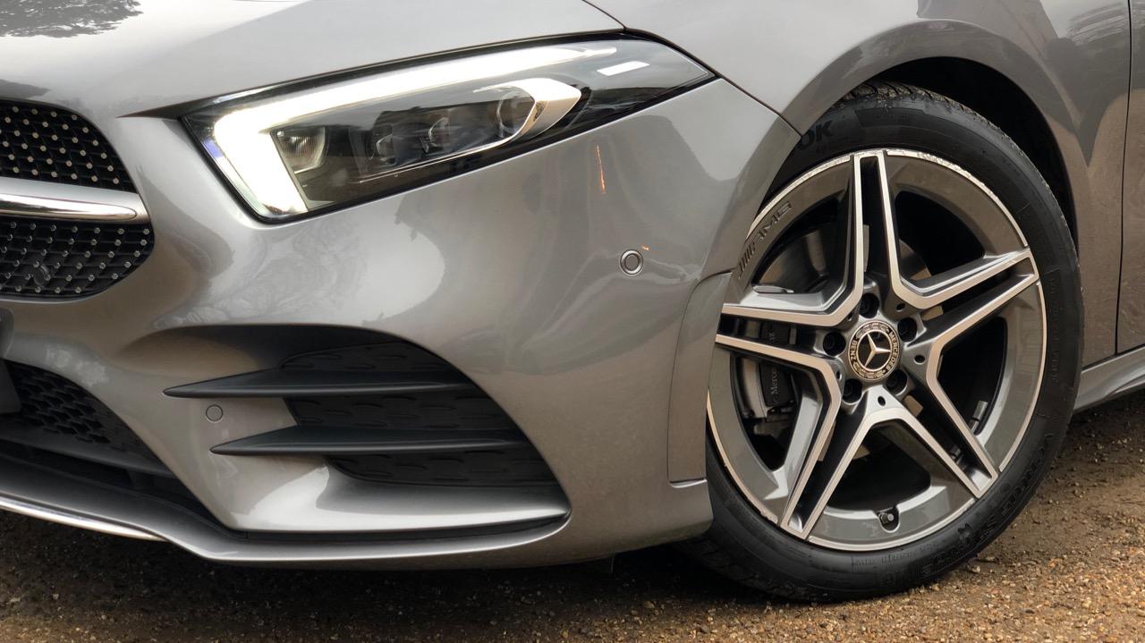 2019 Mercedes-Benz A200 Mountain Grey AMG wheels