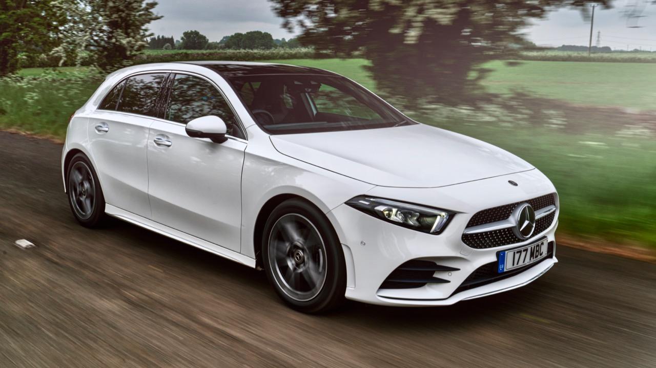 2019 Mercedes-Benz A200 White Rear End