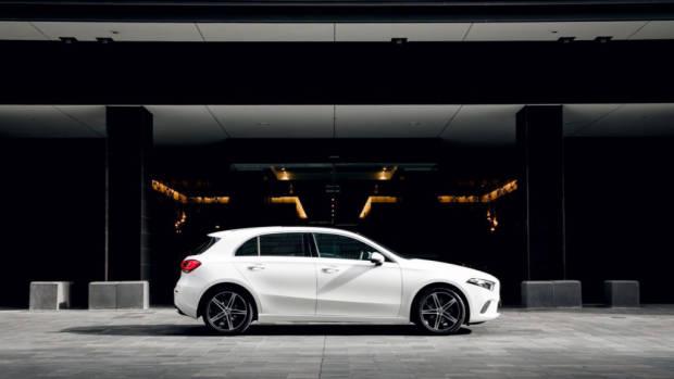 2019 Mercedes-Benz A200 white profile