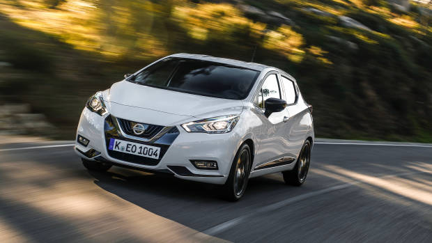 2019 Nissan Micra white front 3/4