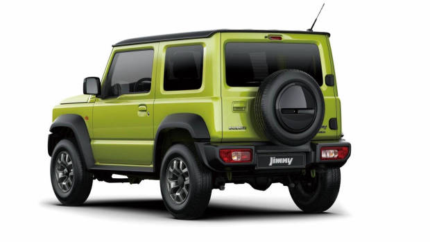 2019 Suzuki Jimny lime rear 3/4