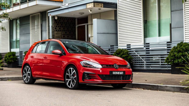 2019 Volkswagen Golf GTI Tornado Red front end