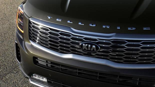 2020 Kia Telluride grille detail