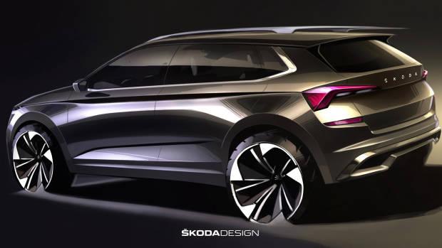 2020 Skoda Kamiq rear sketch