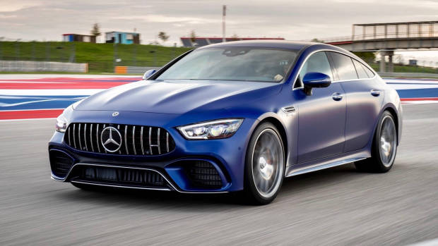 2019 Mercedes-AMG GT 4-Door blue front