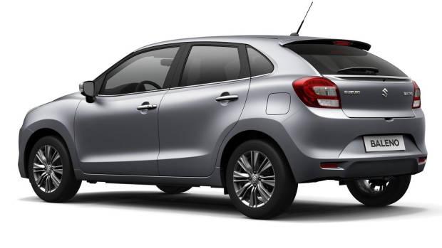 2019 Suzuki Baleno silver rear 3/4